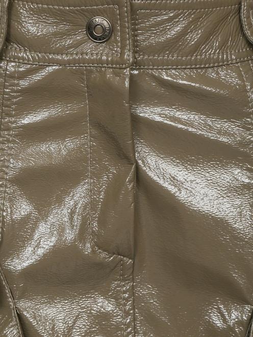 Юбка-мини из фактурной ткани - Деталь