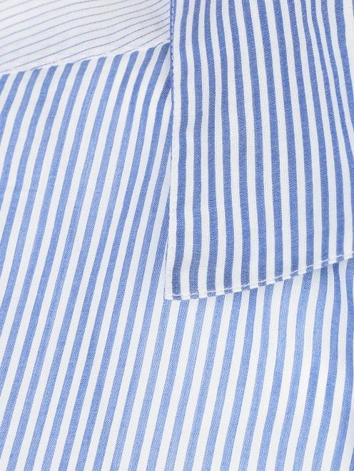 Блуза из хлопка и шелка в полоску - Деталь1