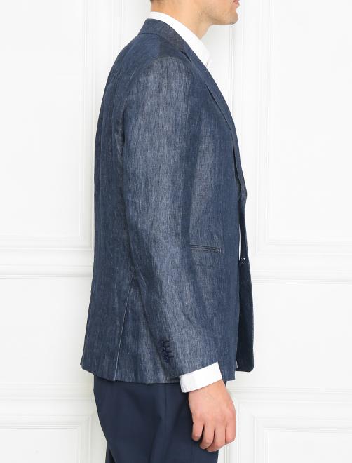 Пиджак однобортный из льна - МодельВерхНиз2