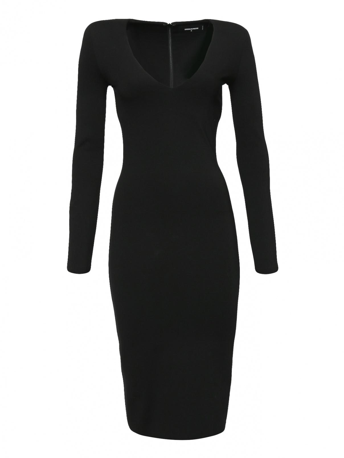 Платье-футляр с V-образным вырезом Dsquared2  –  Общий вид