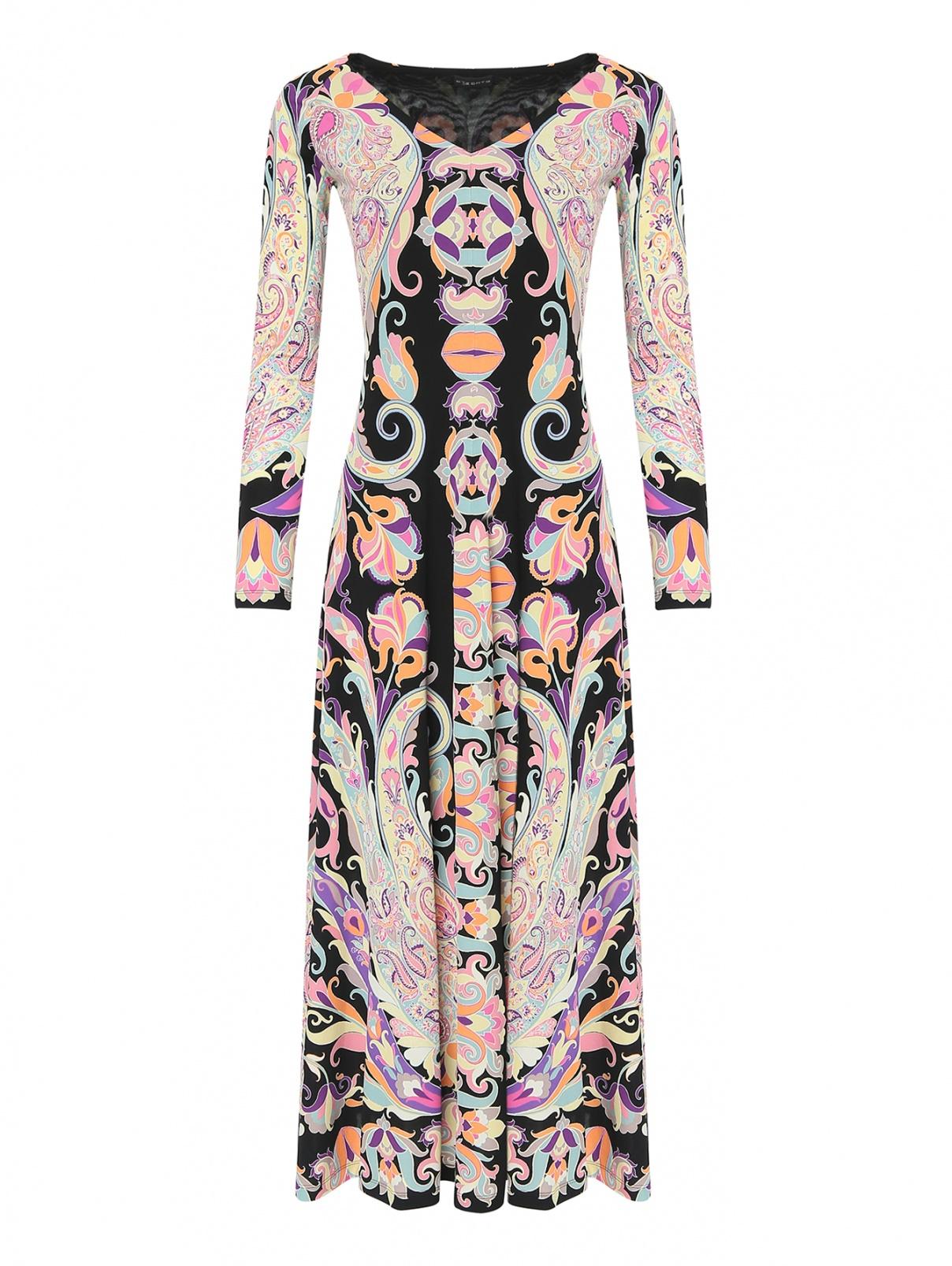 Платье из вискозы с узором пейсли Etro  –  Общий вид