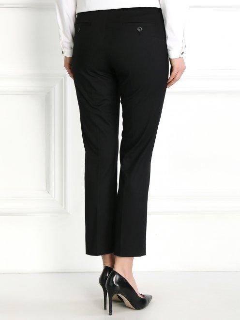 Укороченные брюки из хлопка зауженного кроя - Модель Верх-Низ1