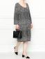 Платье из смешанной шерсти с узором Marina Sport  –  МодельОбщийВид