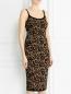Платье с узором на молнии Michael Kors  –  Модель Верх-Низ