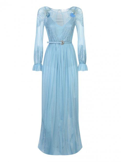 Платье-макси с кружевным узором - Общий вид