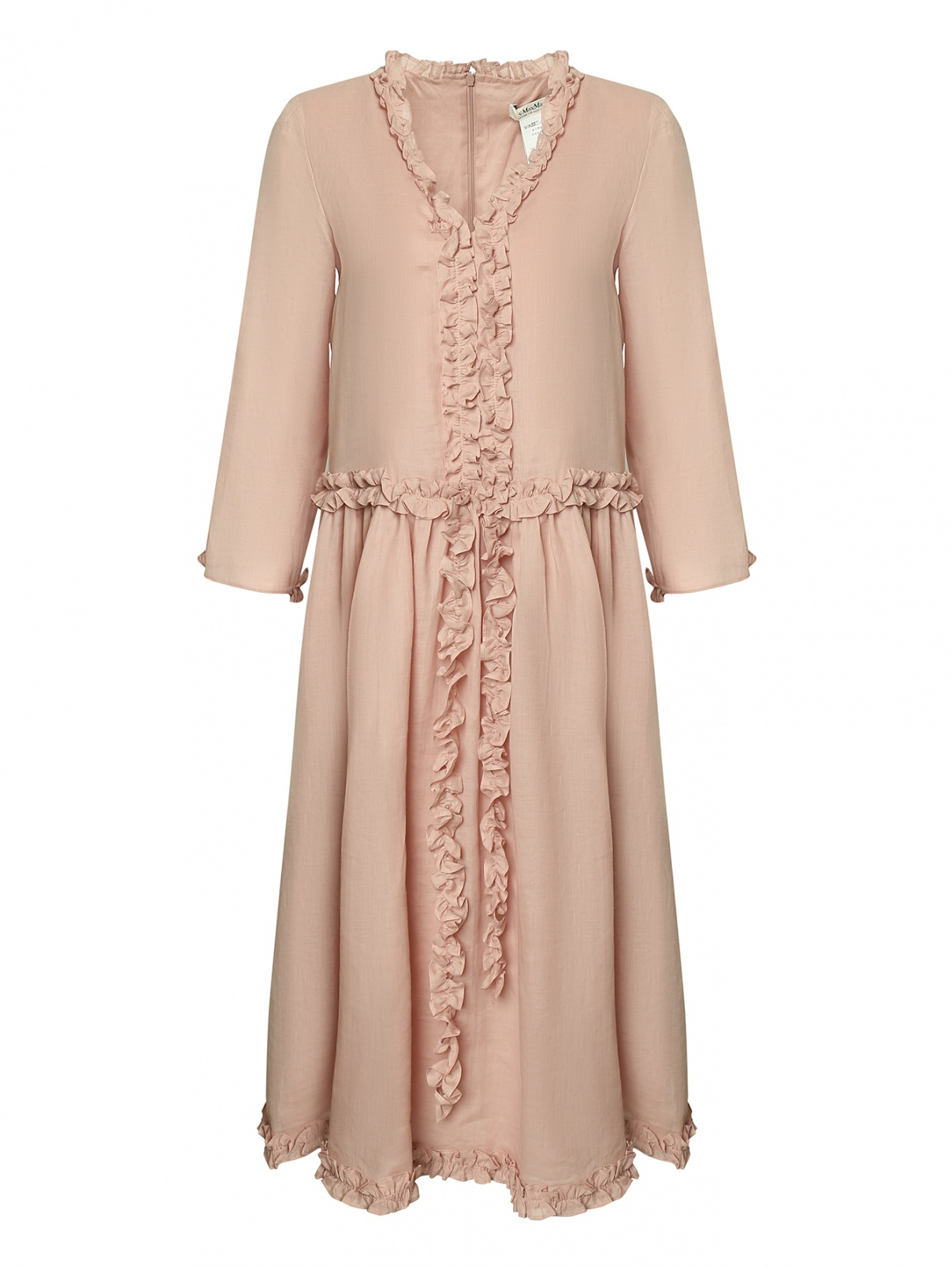 Платье свободного кроя с оборками Max Mara  –  Общий вид