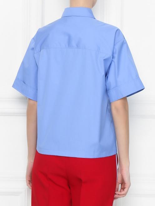 Рубашка из хлопка с короткими рукавами и накладными карманами - МодельВерхНиз1