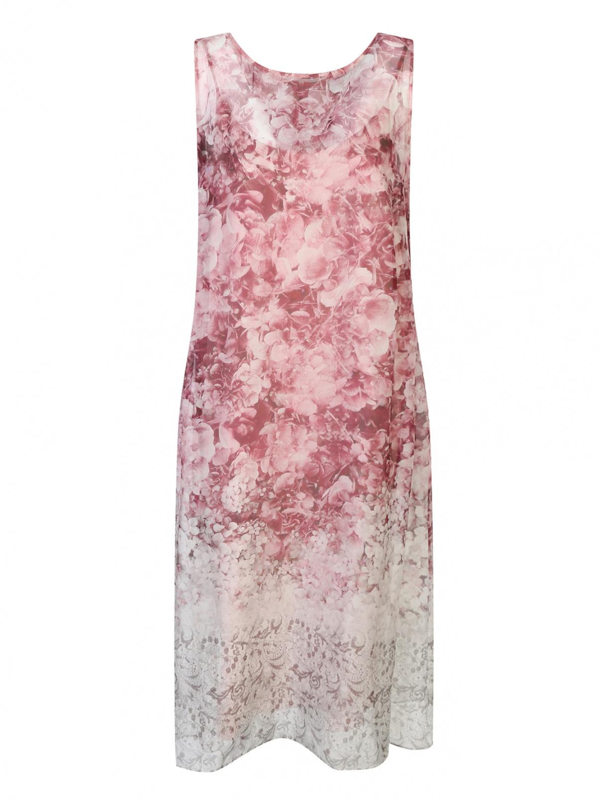 Платье из шелка с цветочным узором Marina Rinaldi  –  Общий вид