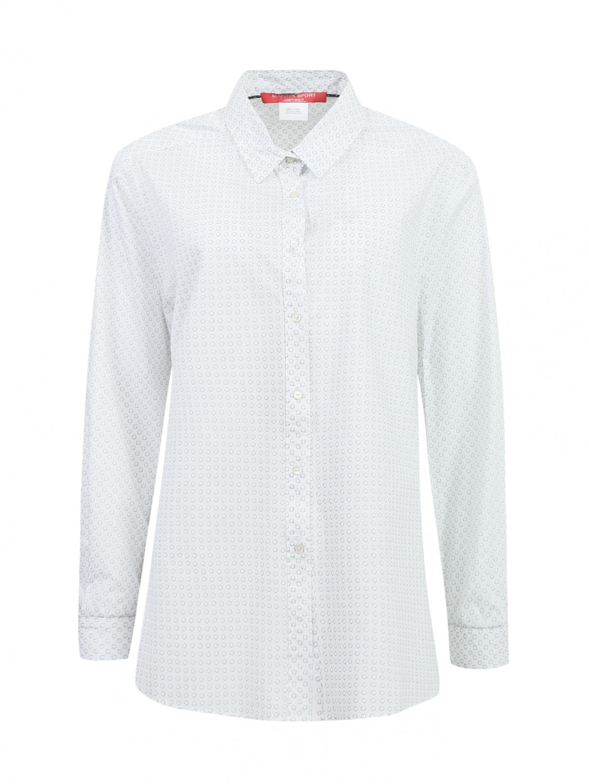 Рубашка из хлопка с узором Marina Sport  –  Общий вид  – Цвет:  Узор