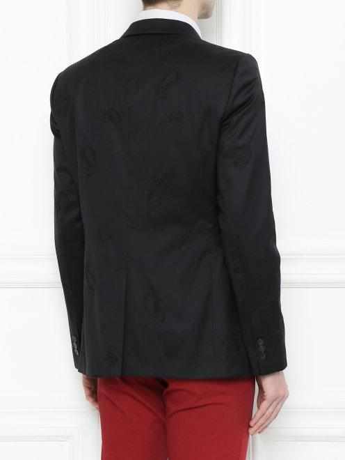 Пиджак из шерсти и шелка - МодельВерхНиз1