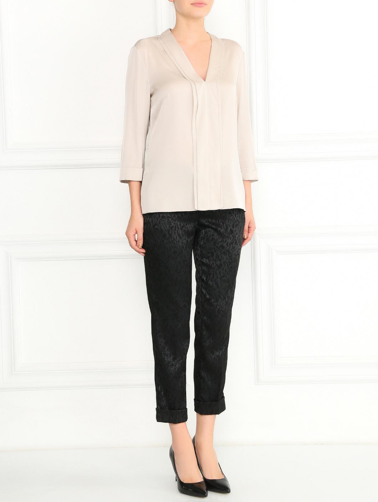 Узкие укороченные брюки с узором Max&Co  –  Модель Общий вид