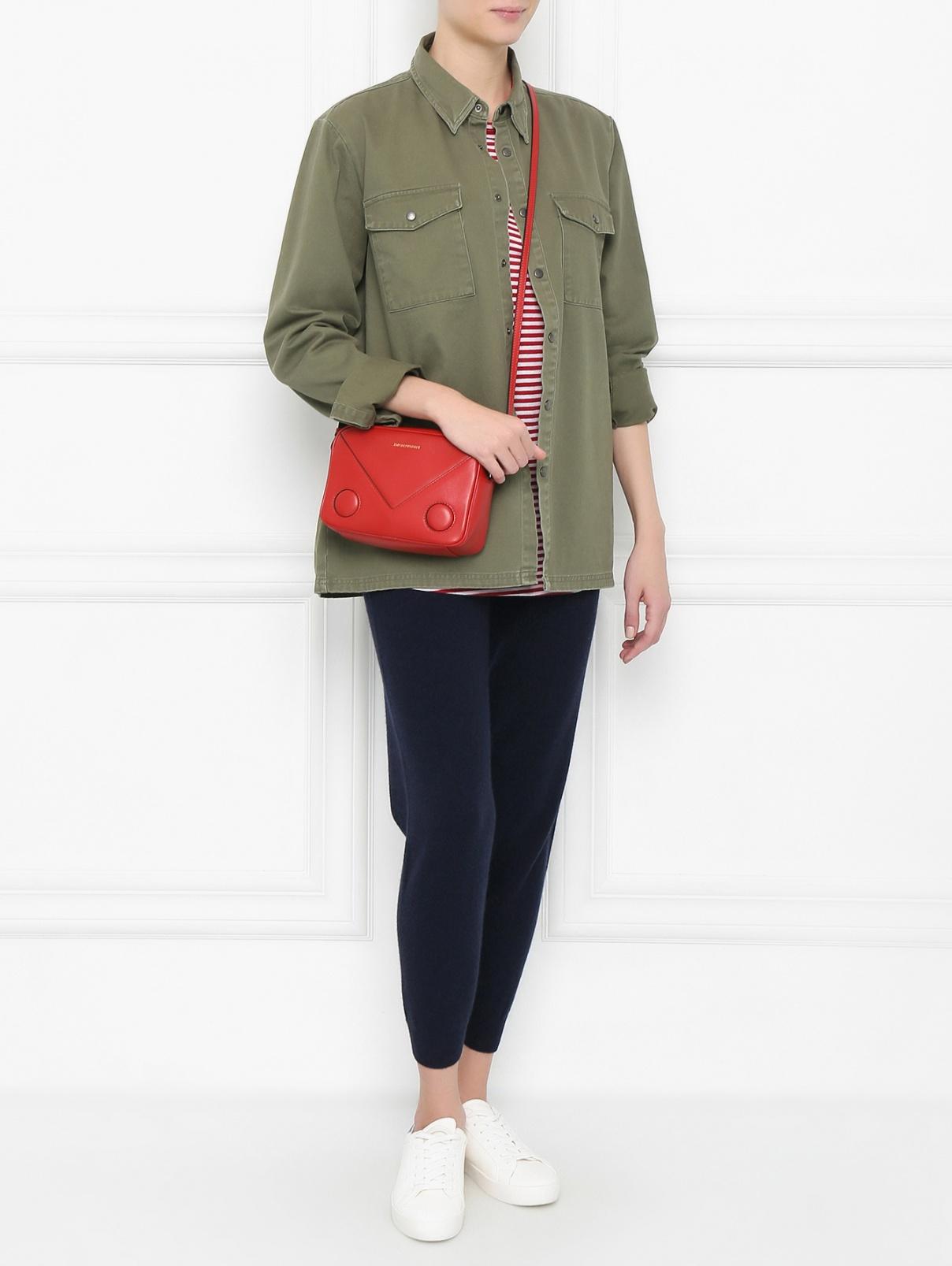 Рубашка из хлопка с принтом на спине Zoe Karssen  –  Модель Общий вид  – Цвет:  Зеленый