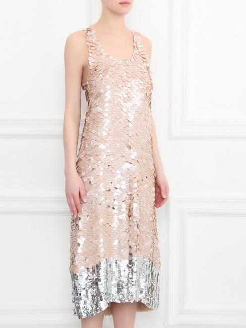Платье декорированное пайетками - МодельВерхНиз
