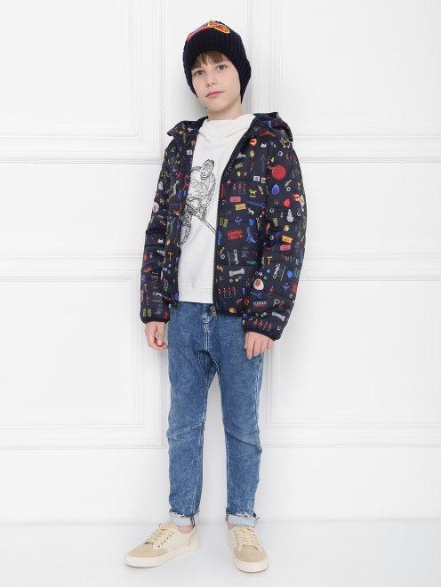 Куртка утепленная с узором - Общий вид