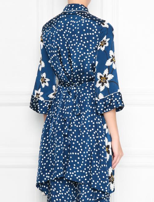 Блуза удлиненная с цветочным узором - МодельВерхНиз1