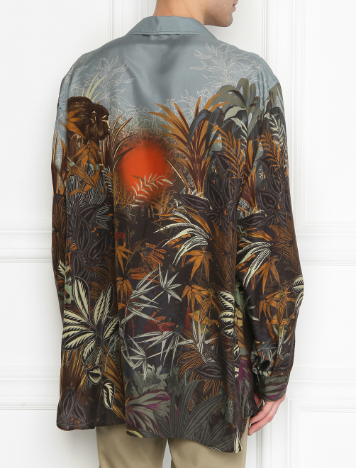 Рубашка из шелка с принтом - МодельВерхНиз1