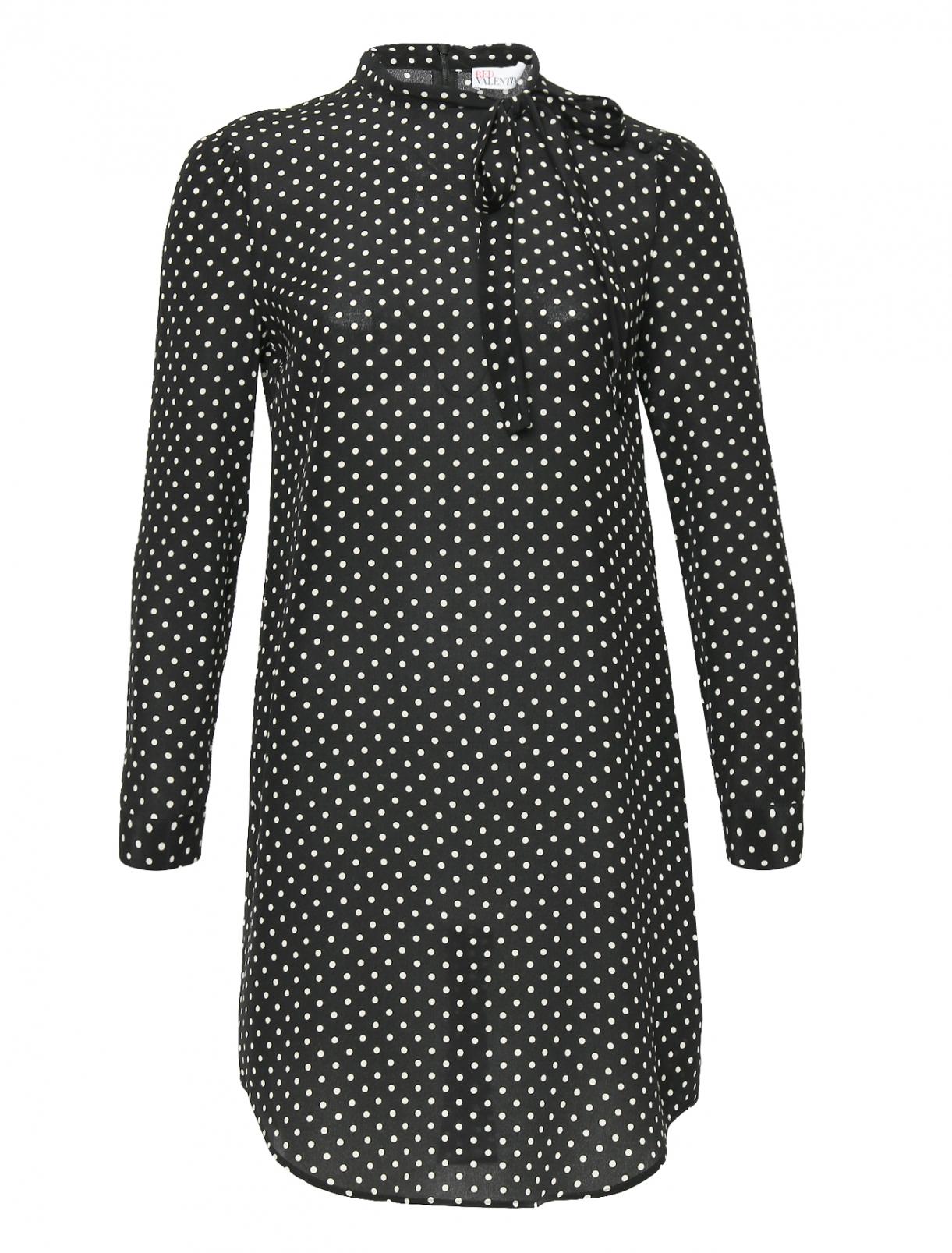 Платье-мини из шелка с узором Red Valentino  –  Общий вид