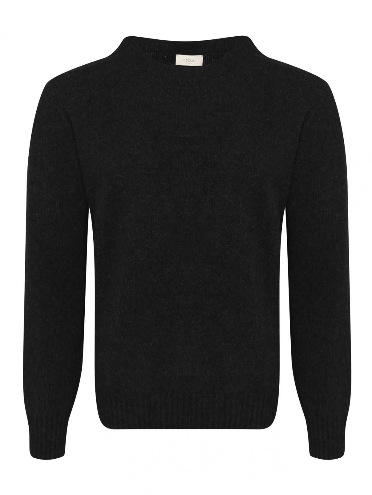 Джемпер из шерсти и кашемира Altea  –  Общий вид  – Цвет:  Черный