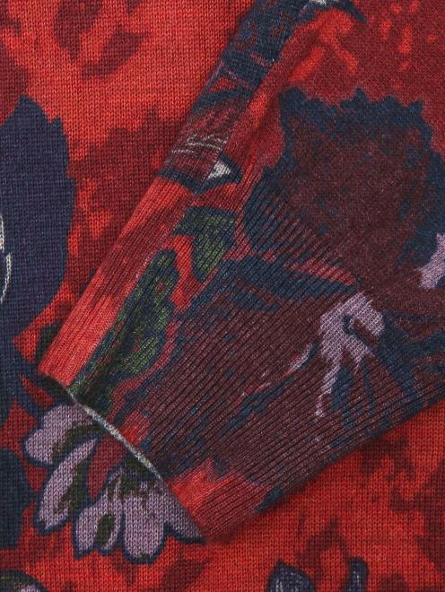 Джемпер из шелка и кашемира с узором - Деталь1