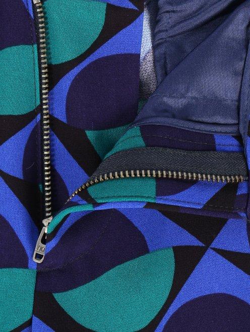 Укороченные брюки с геометричным узором - Деталь1