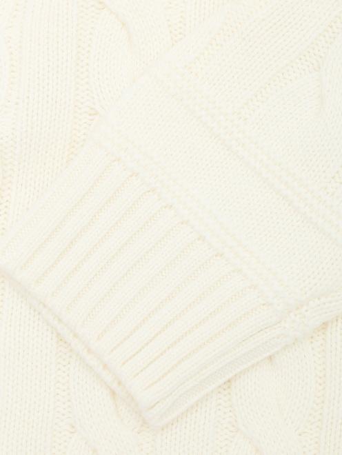 Джемпер из шерсти с узорной вязкой  - Деталь1