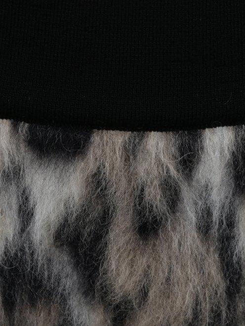 Юбка-мини из смешанной шерсти с узором - Деталь