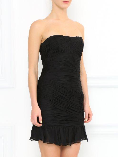Платье-мини из шелка - Модель Верх-Низ