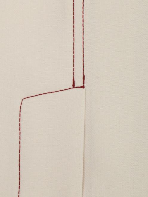Юбка-карандаш из шерсти с боковыми карманами - Деталь1