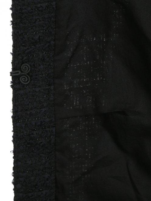 Пальто из шерсти с аппликацией из кристаллов - Деталь2