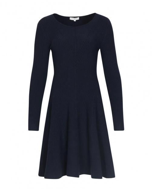 Платье-миди с длинным рукавом - Общий вид