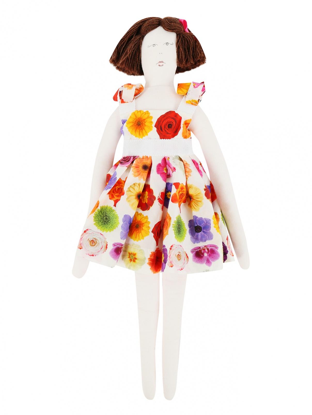 Кукла-тильда в сарафане Mi Mi Sol  –  Общий вид  – Цвет:  Мультиколор