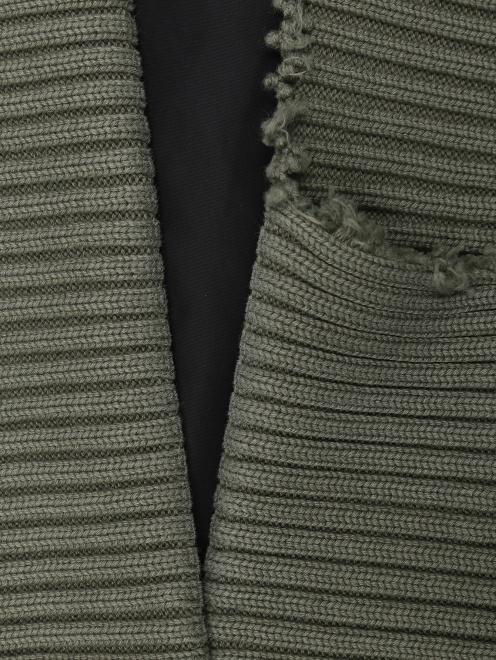 Бомбер из хлопка с акцентными карманами  - Деталь