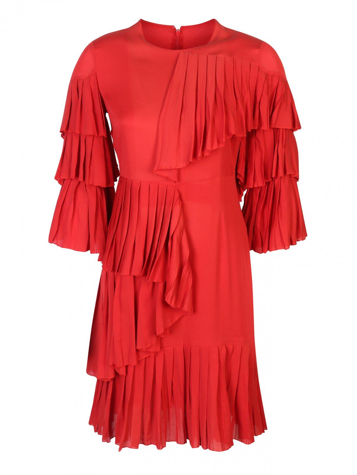 Платье шелковое, с воланами Gucci  –  Общий вид