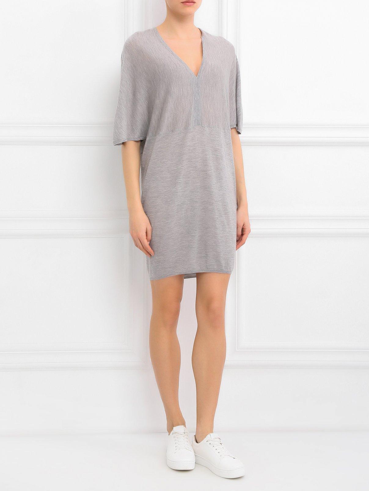 Платье из кашемира с V - образным вырезом Paul&Joe  –  Модель Общий вид