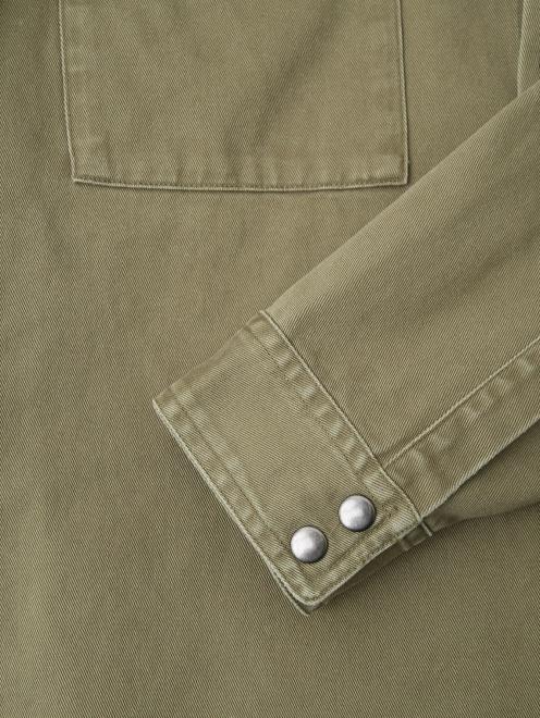 Рубашка из хлопка с принтом на спине - Деталь1