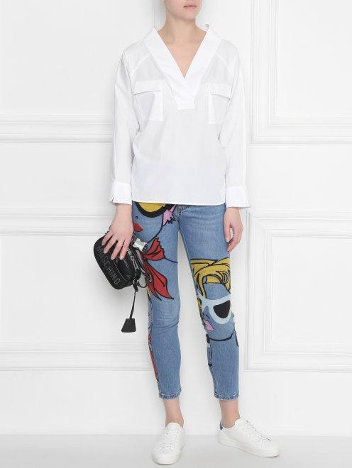 Блуза из хлопка, свободного кроя - Общий вид