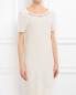 Платье из смешаной шерсти декорированное стразами Blugirl Blumarine  –  Модель Верх-Низ