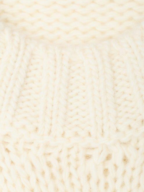 Джемпер из шерсти с косами - Деталь