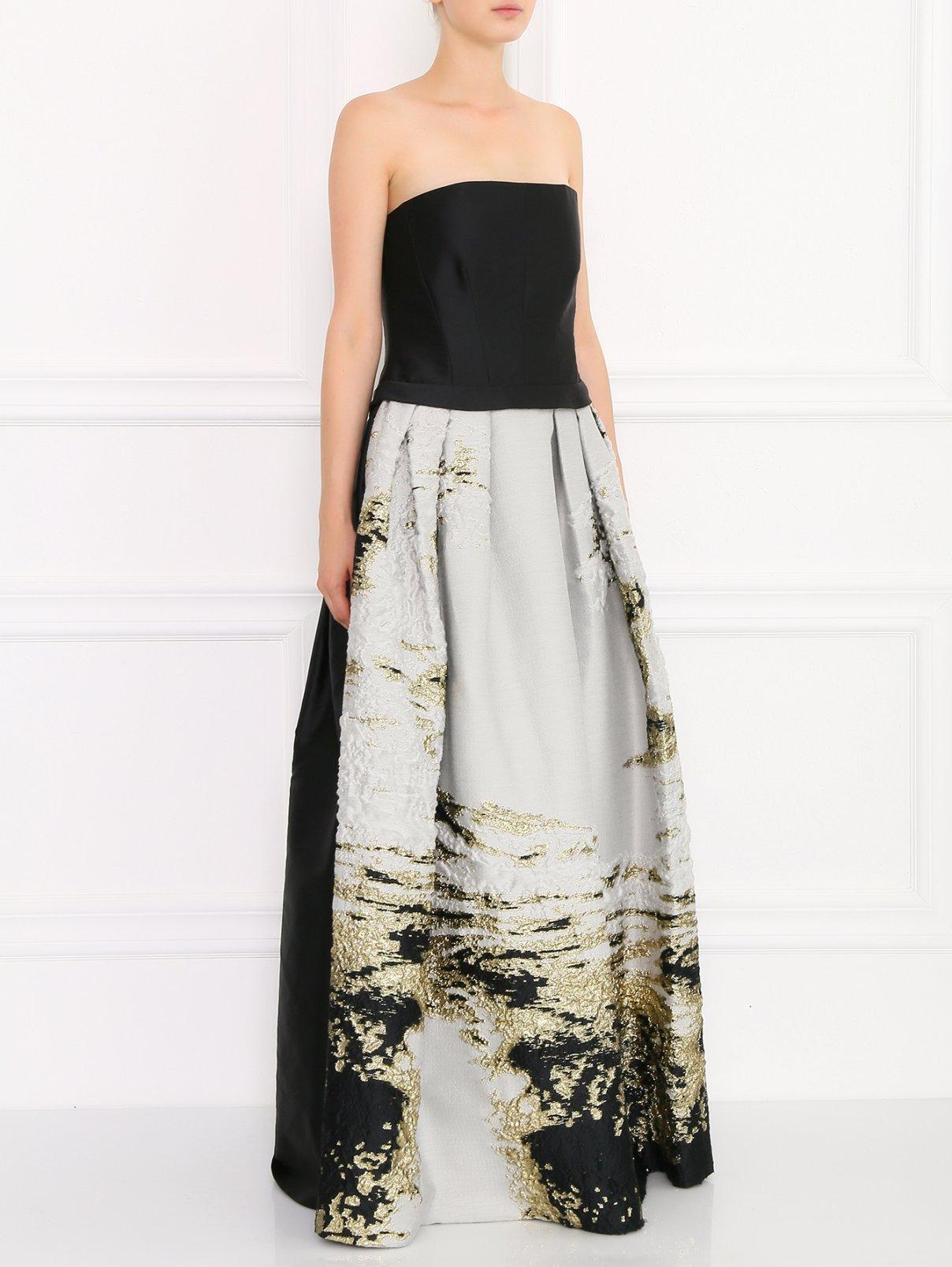 Платье-макси с декоративной отделкой Alberta Ferretti  –  Модель Общий вид