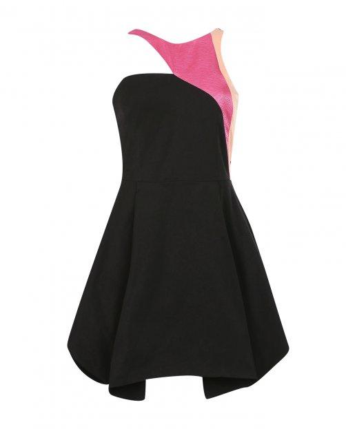 Платье-мини без рукавов - Общий вид