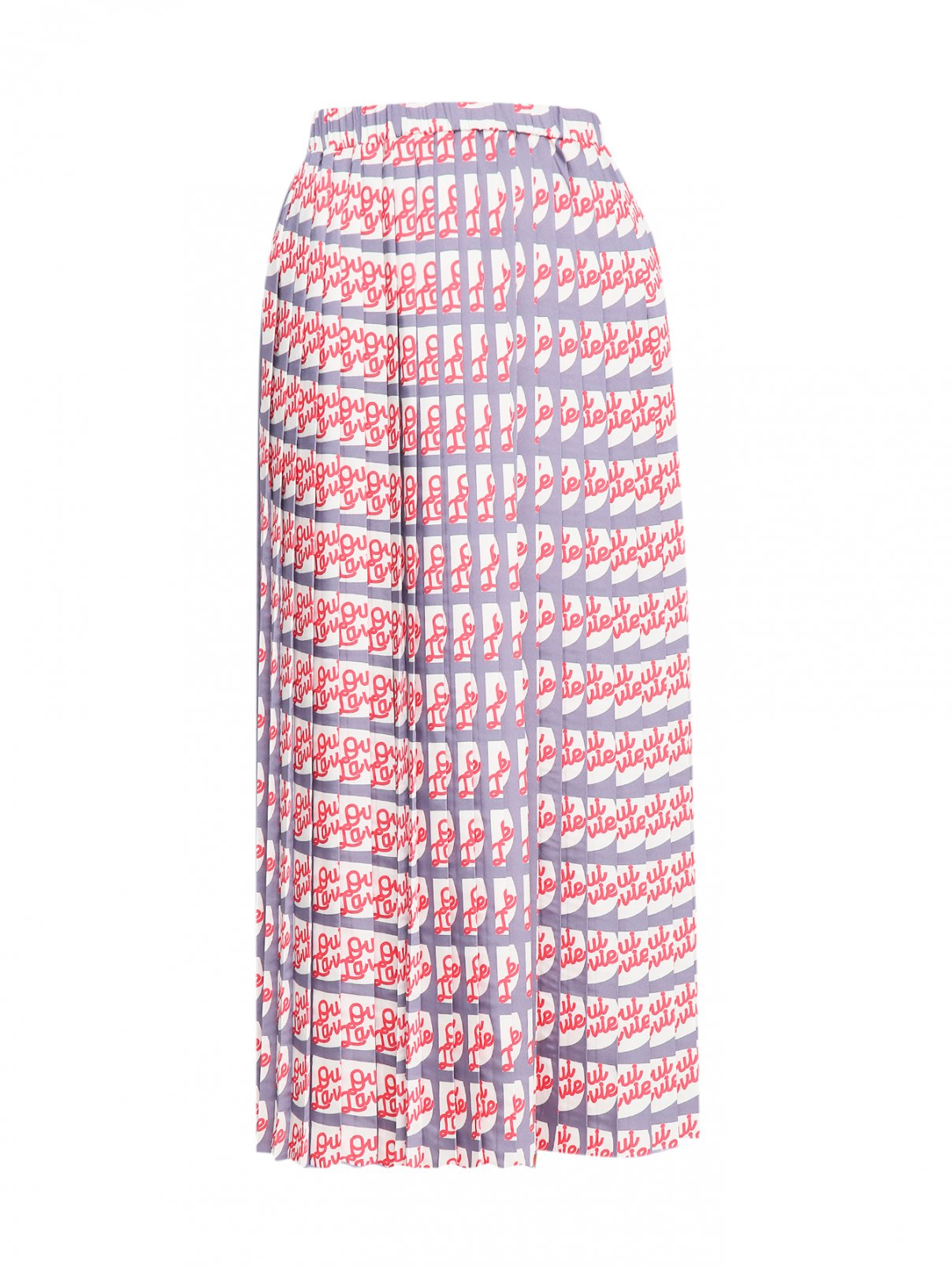 Юбка-миди на резинке с узором Alysi  –  Общий вид  – Цвет:  Узор
