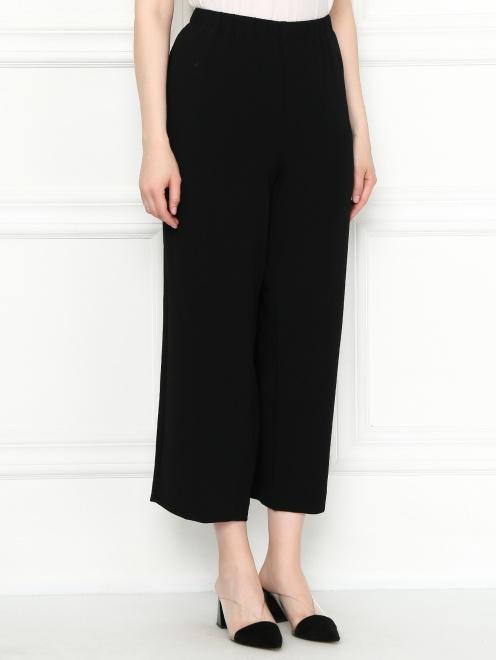 Укороченные брюки на резинке с карманами - МодельВерхНиз