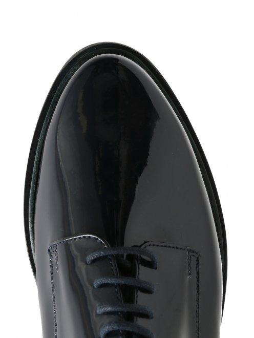 Ботинки из лакированной кожи на платформе - Обтравка3
