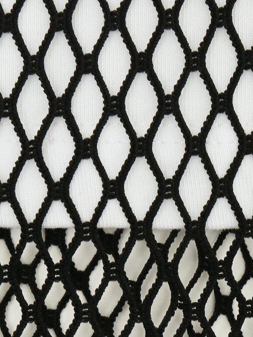 Платье трикотажное с накидкой - Деталь1