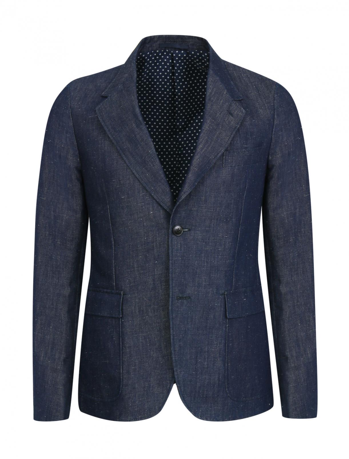 Пиджак однобортный из денима Gucci  –  Общий вид
